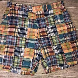 Men PETER MILLAR Patchwork Plaid Shorts Sz. 38